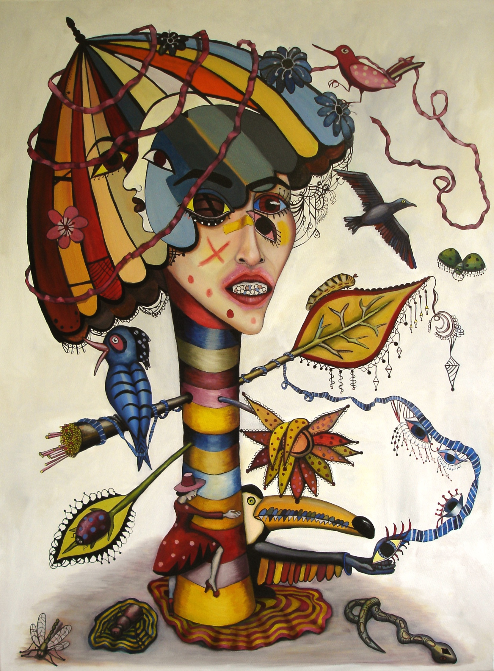 LOVE DRUG - 78CM X 115CM - OIL ON CANVAS - 2009