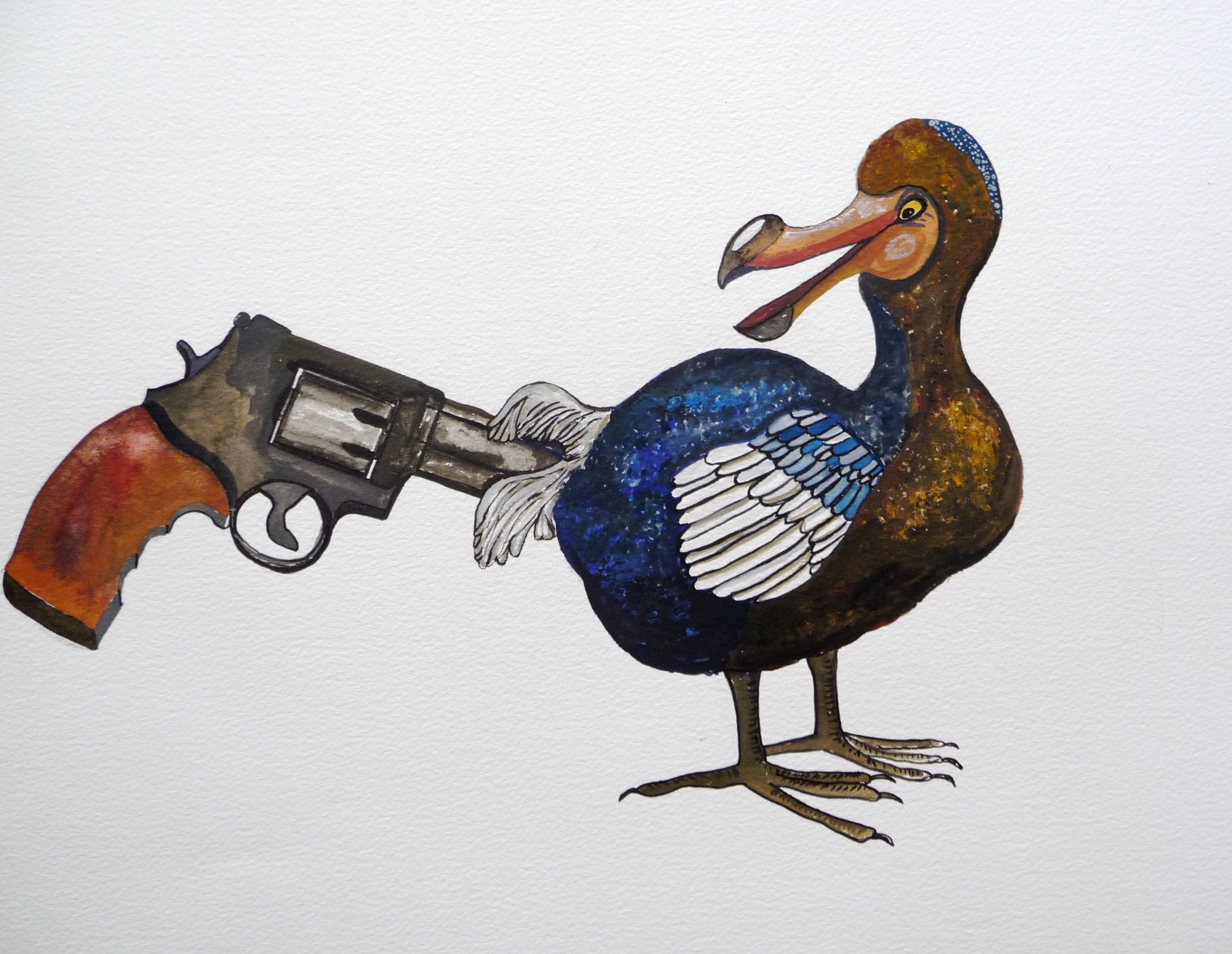 THE LAST DODO - 21CM X 14CM - GOUACHE ON PAPER - 2008