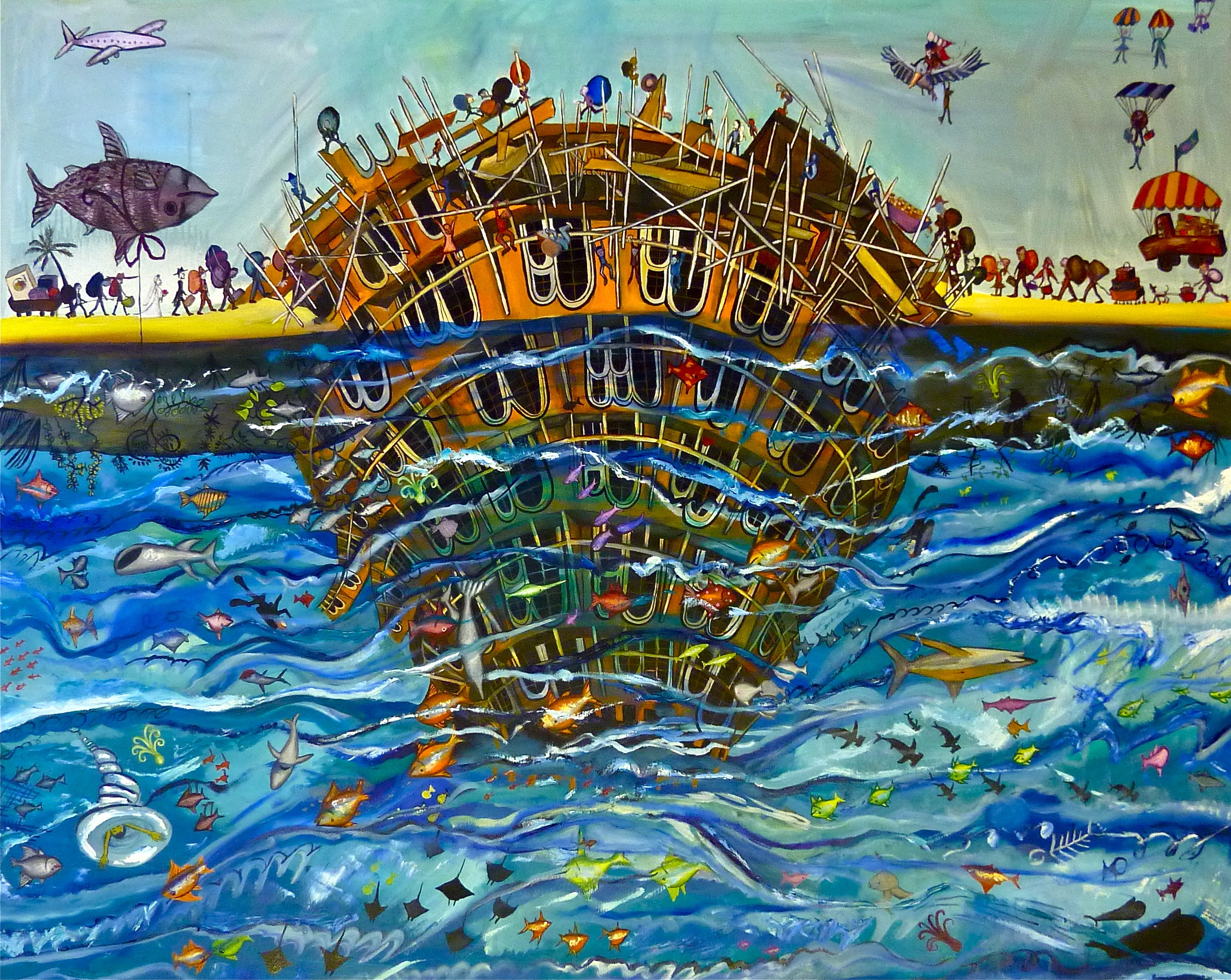UNDER-WORSHIP - 122CM X 152CM - OIL ON CANVAS - 2011