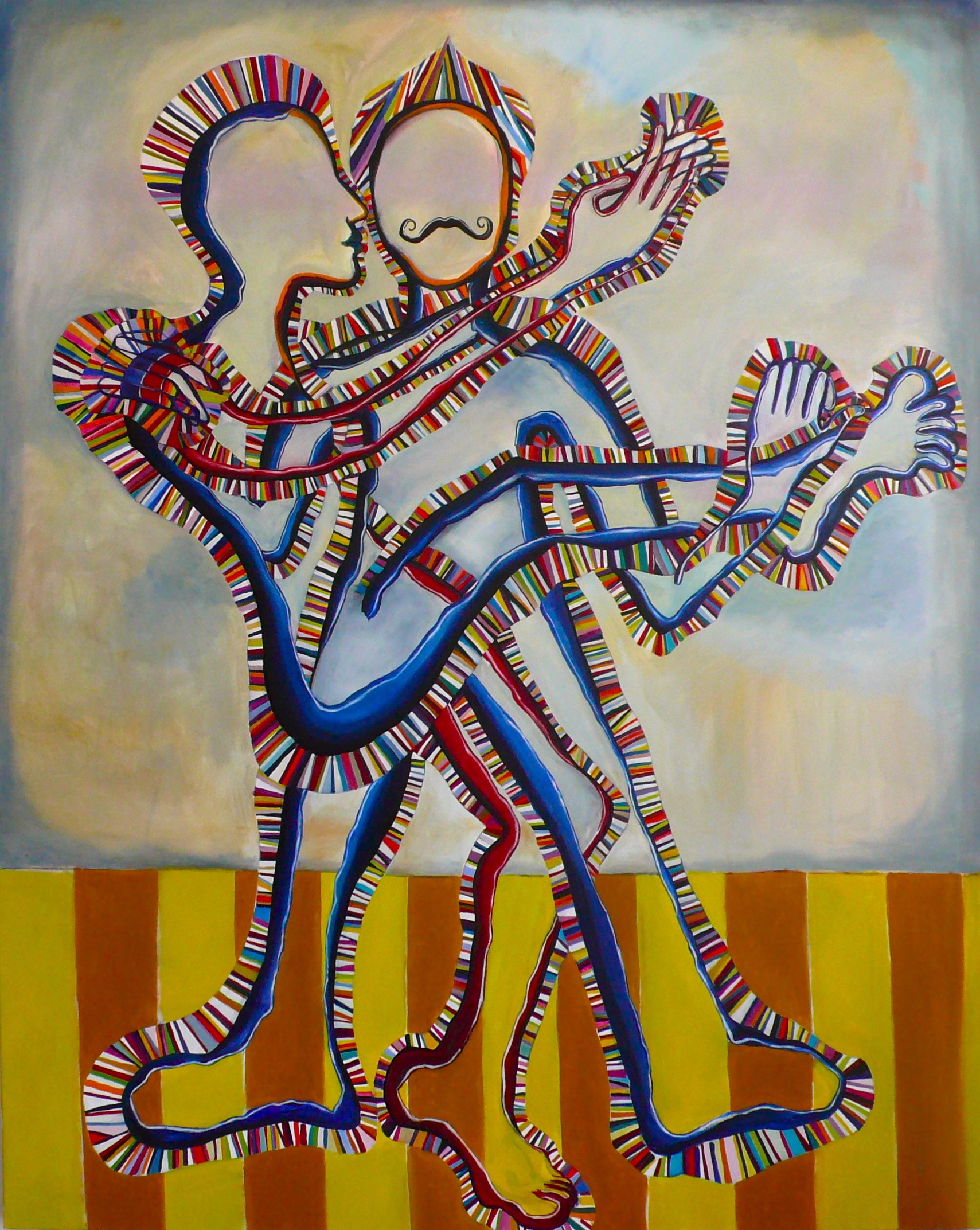 THE HOLLOW COUPLE - 152CM X 122CM - OIL ON CANVAS - 2011