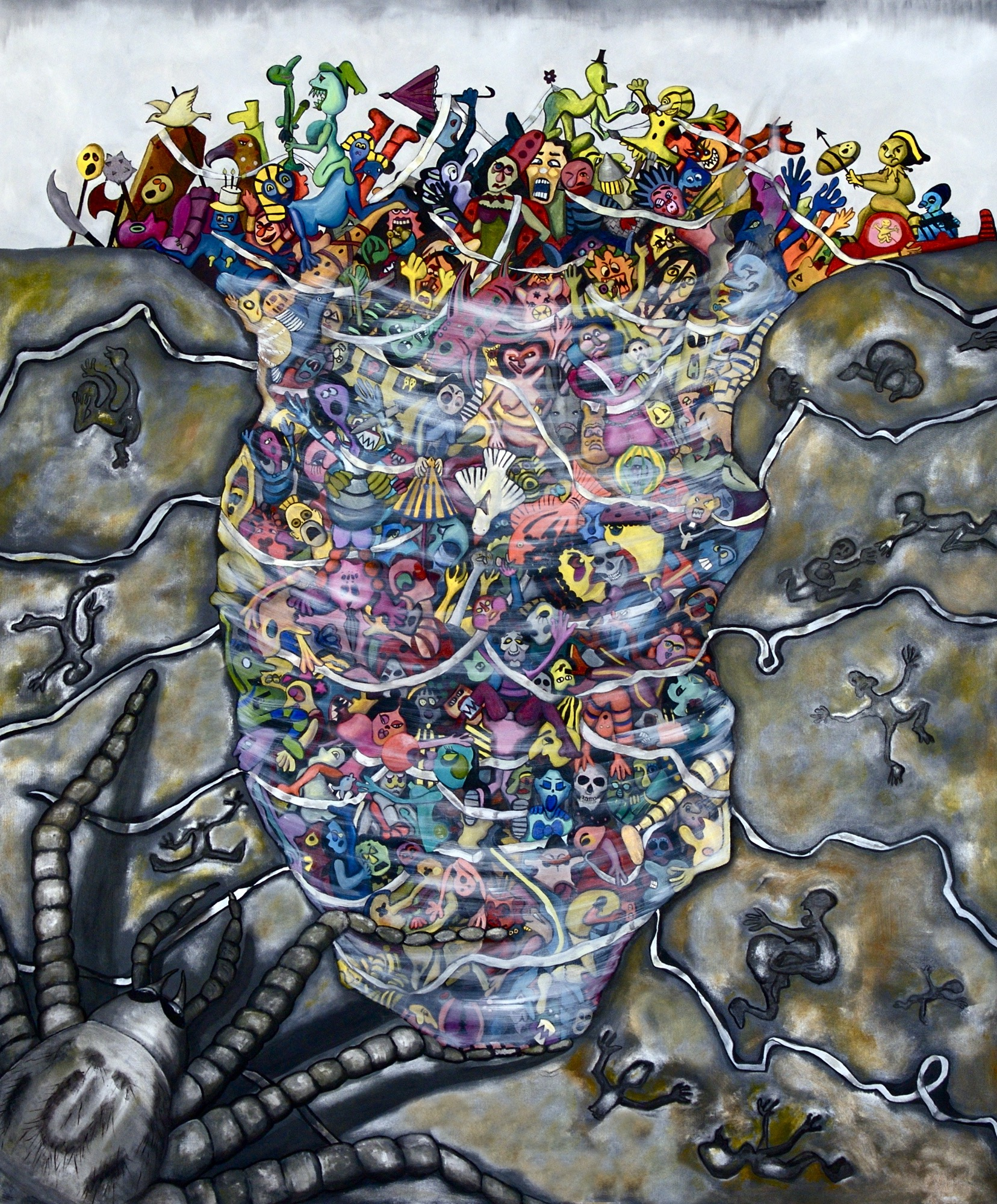 DER UNTERGANG (TRIPTCYH) THE SPIDER - 155CM X 122CM - OIL ON CANVAS - 2008
